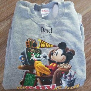 "Disney Dad ""It's A Guy Thing"" Gray Sweatshirt 2X"